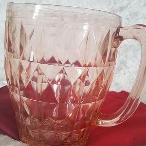 VINTAGE Depression glass jug.